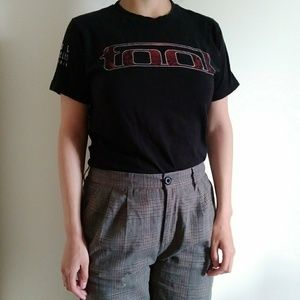 Tops - Tool band mens unisex red black ca band tee size s